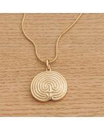 """Halskette """"KRITI"""" gold mit Schlangenkette"""