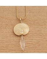 """Halskette """"KRITI"""" gold mit Glaszapfen und Schlangenkette"""
