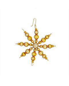 Stern aus Glasperlen, 6 cm, gold