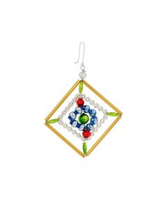 Ornament aus Glasperlen, 7 cm, bunt