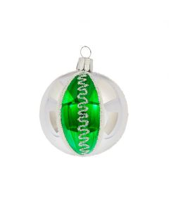 Christbaumkugel aus Glas, 6 cm, im Retro-Design