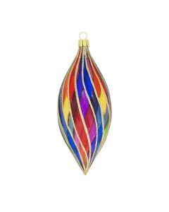 Zapfen aus Glas, transparent in orientalischen Farben
