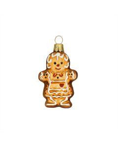 Figur, Lebkuchen Frau, altgold