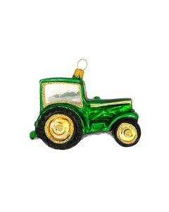 Glasfigur, Traktor, 7 cm, grün