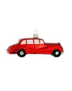 Glasfigur, Auto, 12 cm, rot