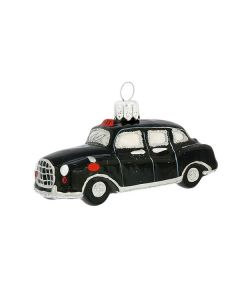 Glasfigur, Londoner Taxi, schwarz