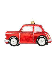 Glasfigur, Auto Mini, 13 cm, rot