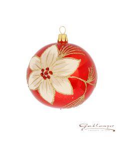 Christmas Ball, 8 cm, red opal