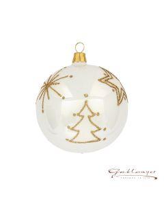 Christmas Ball, 8 cm, white opal