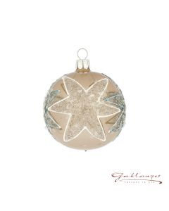 Christmas Ball, 7 cm, gold opal with stars