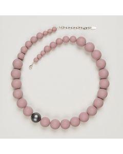 Kette aus matten Perlen, 20 mm, rosa