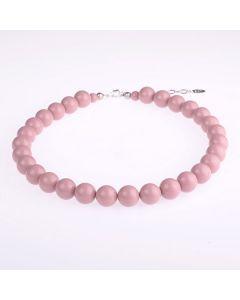 Kette aus glänzenden Acrylperlen 14 mm, rosa