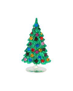Christbaum mit Glassteinen, Aufsteller, handgefertigt, 7 cm