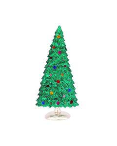 Christbaum mit Glassteinen, Aufsteller, handgefertigt, 18 cm