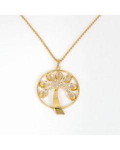 Halskette, Lebensbaum gold mit Swarovski®-Kristallen