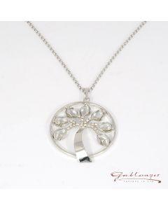Halskette, Lebensbaum silber mit Swarovski®-Kristallen