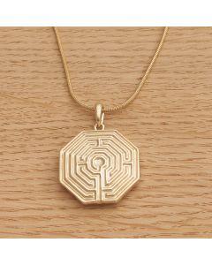 """Halskette """"AMIENS"""" gold mit Schlangenkette"""
